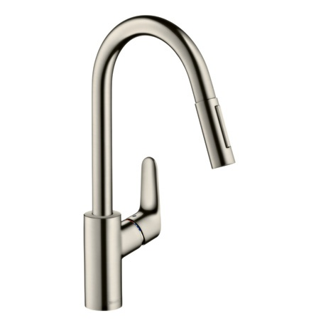 Focus 31815800 Single lever kitchen mixer 240 with pull out spray 1