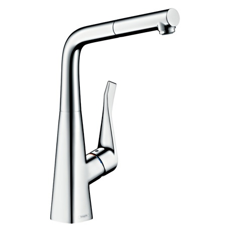 Metris 14821000 Single lever kitchen mixer 320 with pull out spout