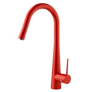شیرالات آشپزخانه شاوری تنسر مدل زیماک قرمز