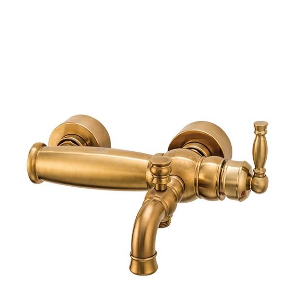 شیرالات حمام قهرمان مدل آنتیک طلایی مات