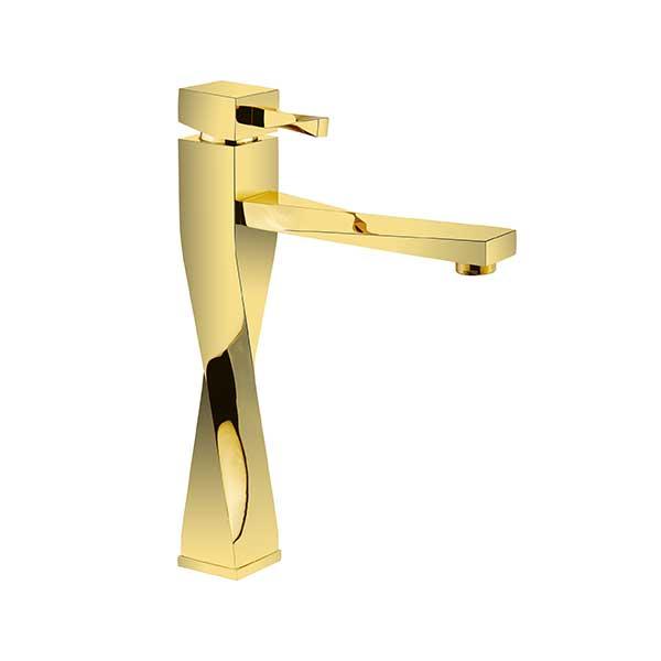 شیرالات روشویی پایه بلند طلابراق اترون مدل فلوریدا