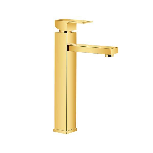 شیرالات روشویی پایه بلند طلایی اترون مدل کریویت